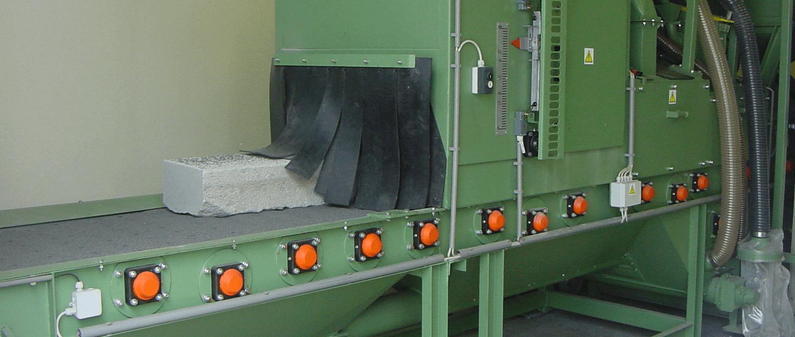 Rollenbaan steenstraalmachine