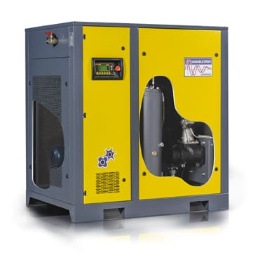 Schroefcompressor met variabel toerental